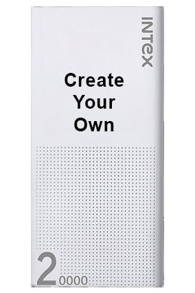 Create Your Own INTEX 20000 mah Lithium  power bank (IT-PB20K)-White