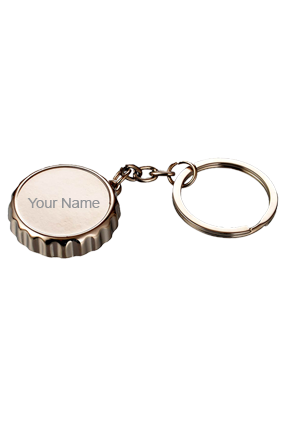 Metal Crown Shape Keychain With Bottle Opener - J104