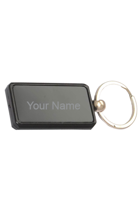 Metal Plate Keychain - Rectangle Keyring J110