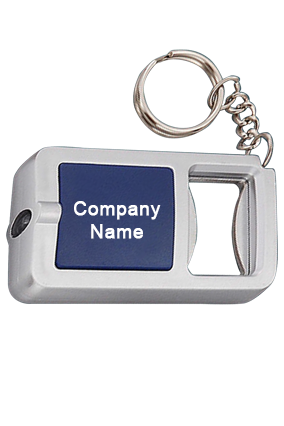 3 in 1 Key chain with opener and torch (rectangle)-J31