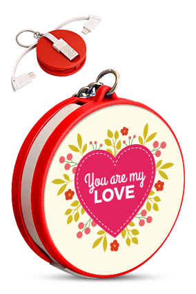 My Love Keychain with Data Cable