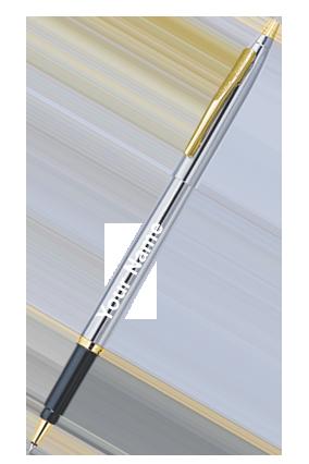 Pierre Cardin Kriss White Gold Roller Pen Black
