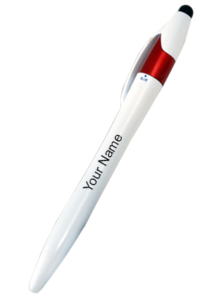 L91-Twisty 3 Refill Pen With Stylus-Red