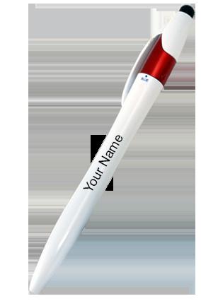 L91-Twisty 3 Refill Pen With Stylus-Red