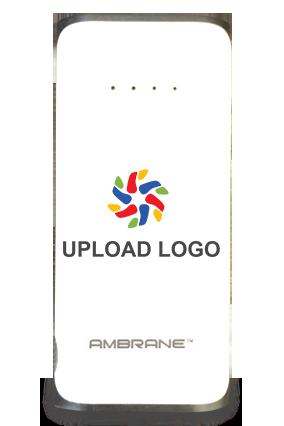 Customised Upload Logo 5200mAh Ambrane Power Bank White