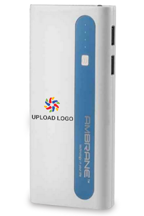Upload Logo 13000mAh Ambrane Power Bank Sky Blue