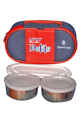 Upload Logo Lyly Delite 4 Containers Lunch Box