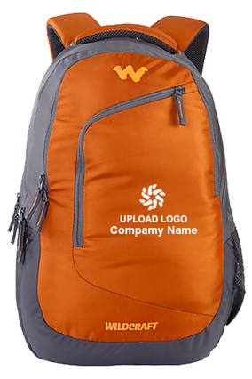 Upload Logo Wildcraft Maestro Orange Laptop Backpack