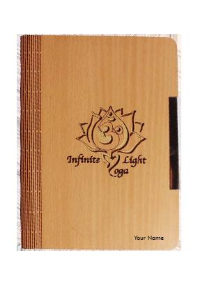 Infinite Light Yoga Wooden Notebook