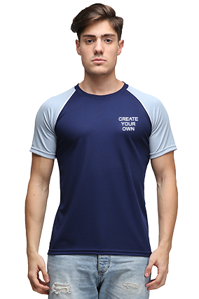 Effit Create Your Own Navy Grey T-Shirt