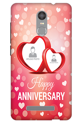 3D - Redmi Note 3 Floral Hearts Anniversary Mobile Cover