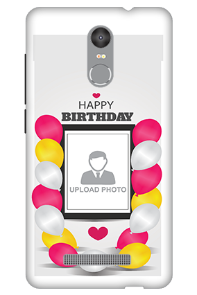 3D - Redmi Note 3 Birthday Greetings Mobile Cover