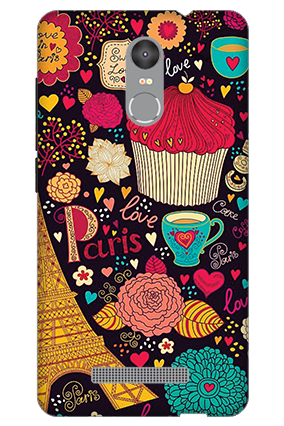 Customised 3D-Redmi Note 3 Paris Valentine's Day Mobile Cover