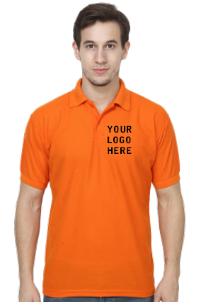 Matty-160GSM - Create Your Own Orange Collar T-Shirt