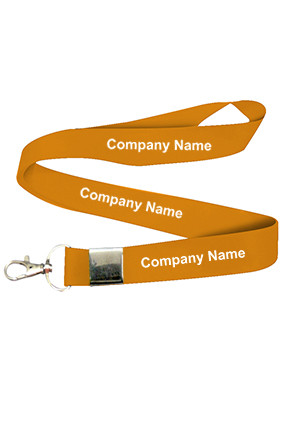 Company Name Orange Lanyard