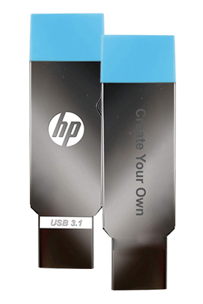 Create Your Own OTG HP Metal Pen Drives-X302W