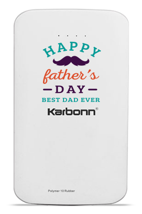 Love You Dad 10000mAh Karbonn Power Bank