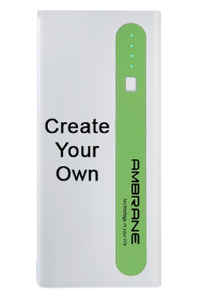 Ambrane Power Bank P-1310 13000mAh-White With Green