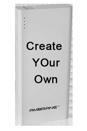 Design Your Own Ambrane 12500mAh Power Bank (P-1133, White)