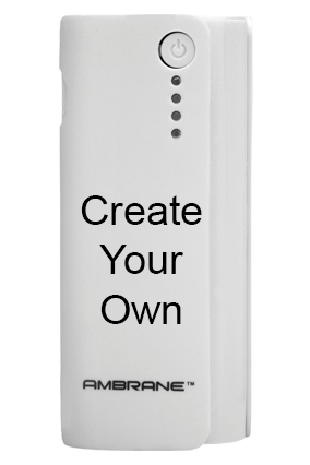 Create Your Own Ambrane P-444 - 4000mAh Power Bank White