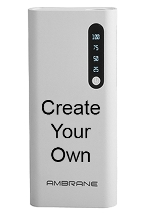Design Your Own 8000mAh Ambrane Power Bank White