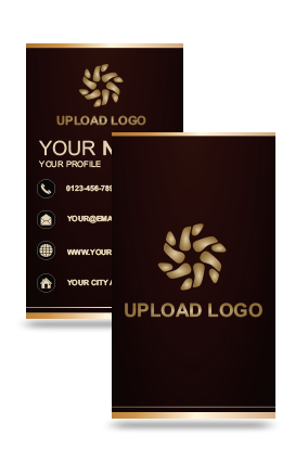 Brown Vertical Business Card