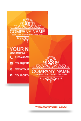 Orangish Vertical Business Card