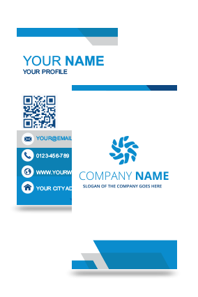 Buy corporate premium business cards online in india printland blue vertical business card reheart Choice Image