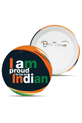 Customized Proud Indian Badge