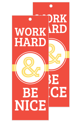 Work Hard Bookmark