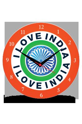 I Live India Wall Clock