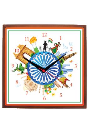 Love India Square Wall Clock