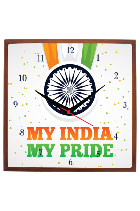 My Pride Indian Square Wall Clock