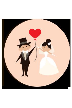 Customize Romantic Round MDF Magnet