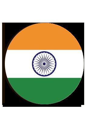 Indian Round MDF Magnet