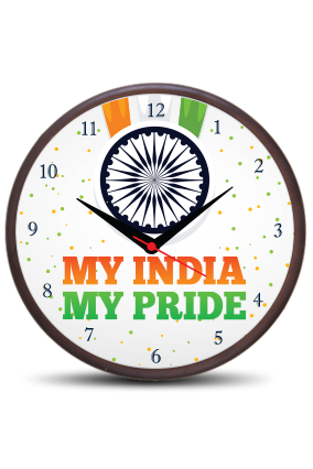 My Pride Indian Wooden Wall Clock