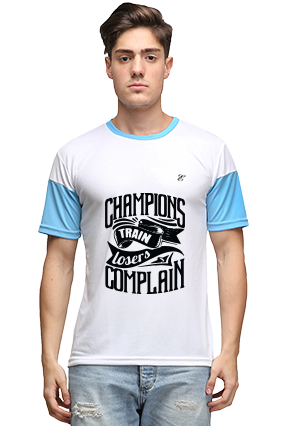 Effit Champions White and Turquoise T-Shirt