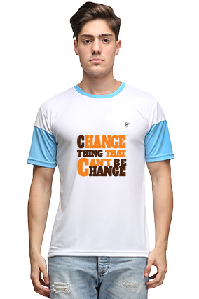 Effit Change It White and Turquoise T-Shirt
