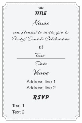 Create Your Own Invitation Card (Double Side) ...