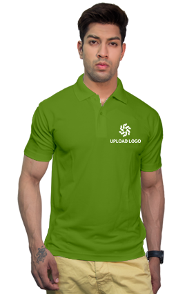 160GSM - Create Your Own Parrot Green Collar Dry-Fit T-Shirt