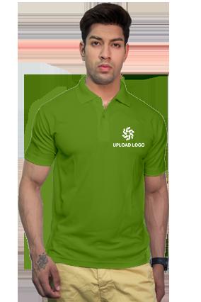 160GSM - Create Your Own Parrot Green Collar Matty T-Shirt
