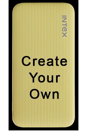 Create Your Own Intex-Power Bank PB- 6000mAh Poly - Yellow