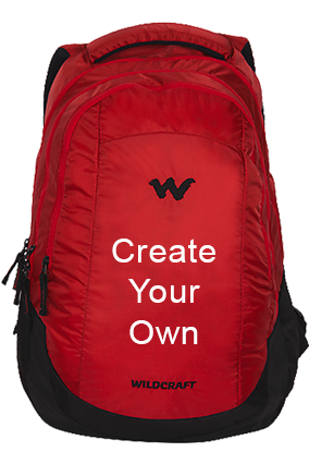 Create Your Own Wildcraft Peza Red Laptop Backpack