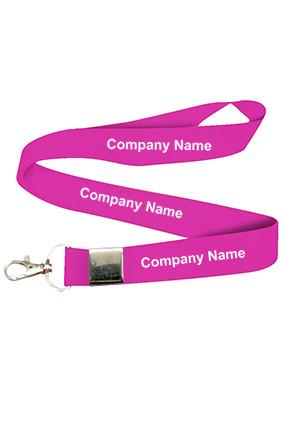 Custom Company Name Pink Lanyard