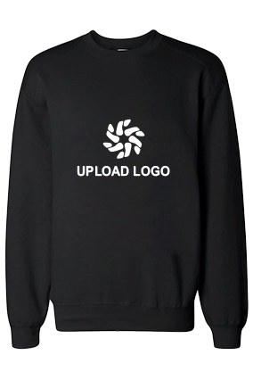 Upload Logo Black Sweatshirt