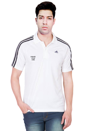 Adidas - Create Your Own White T-Shirt  With Black Stripe