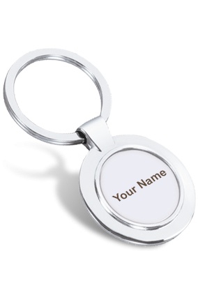 Ennui Round Steel Key Chain- 5155