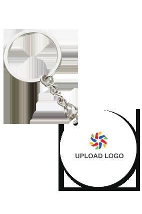 Promotional Upload Logo Round Key Ring