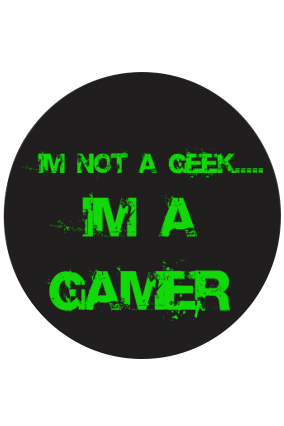 I'm a Gamer Round Mouse Pad