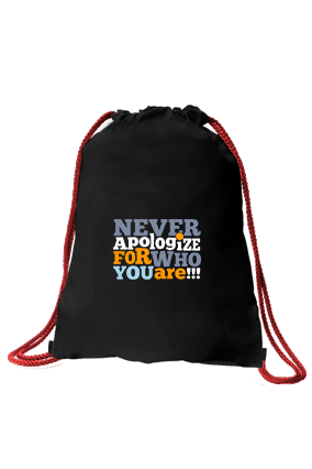 Be You Black Gym Sack Bag